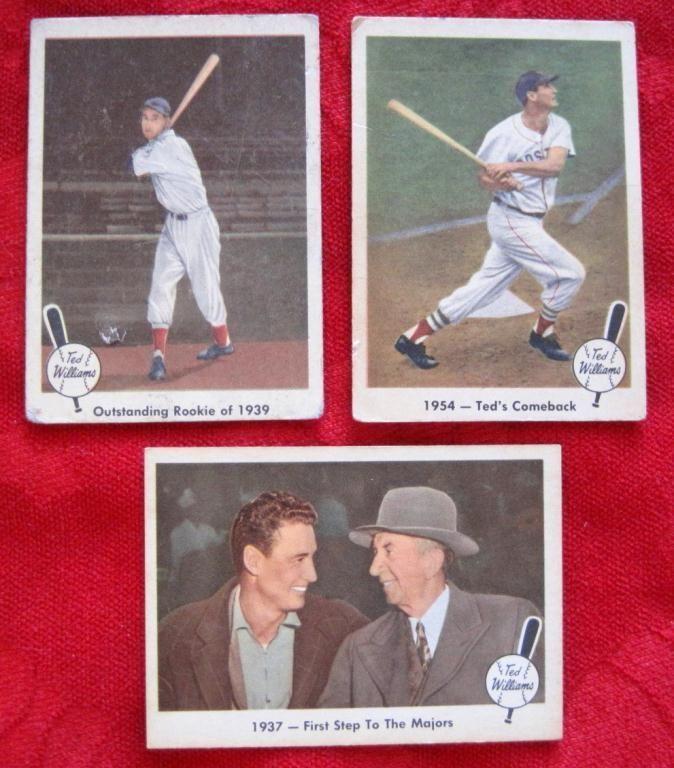 3 1959 Fleer Ted Williams Baseball Cards