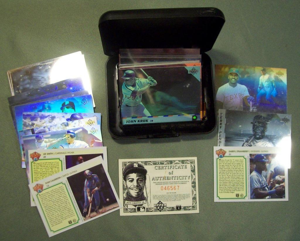 1992 Upper Deck Hologram Baseball Cards In Case