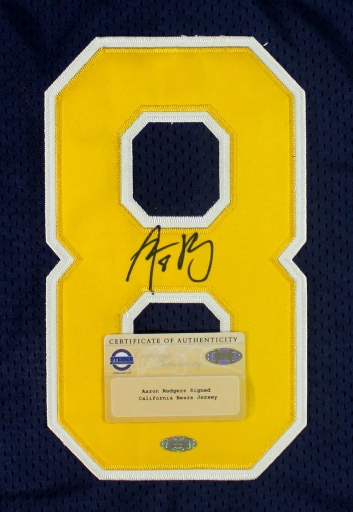detailed look 53786 0f072 Aaron Rodgers Signed Cal Jersey (Steiner COA)