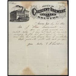 Crescent Brewery, Gaff & Co. Brewers, Letterhead.