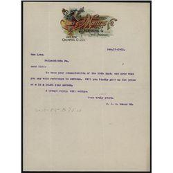 F.C.H. Manns Co., Letterhead.