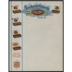 Merchants Cigar Co., Letterhead.