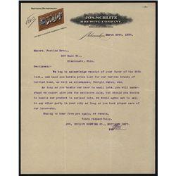 Jos. Schlitz Brewing Co., Letterhead.
