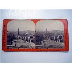 Stereoscope Card, Telegraph Hill, San Francisco.