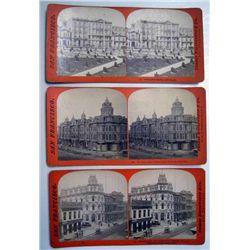 Stereoscope Cards, San Francisco Scenes, Lot of 3.