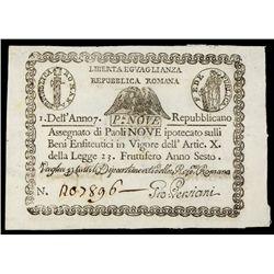 Repubblica Romana, 1798 issue.