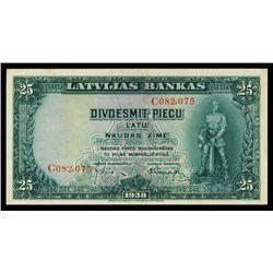 Latvijas Bankas, 1938-39 Issue.