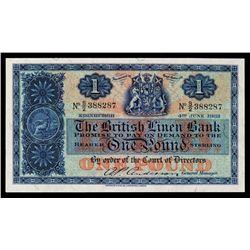 British Linen Bank, 1951-59 Issue.