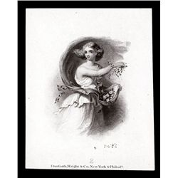 Danforth, Wright & Co. Portrait of Young Woman Throwing Flowers.