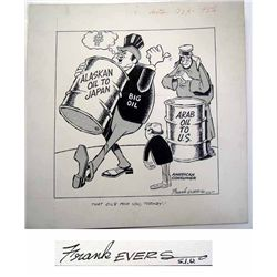 Frank Evers Oil Industry Related Political Cartoon.