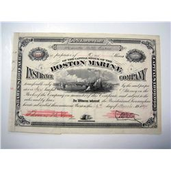 Boston Marine Insurance Co., Issued Stock.