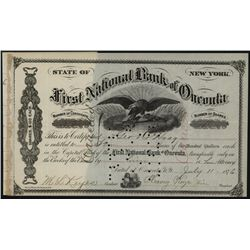 First National Bank of Oneonta, Issued Stock.