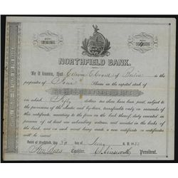 North Field Bank, Issued Stock.