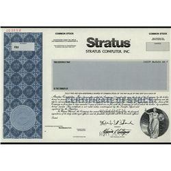 Stratus Computer, Inc., Specimen Stock.