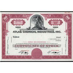 Atlas Chemical Industries, Inc., Specimen Stock.