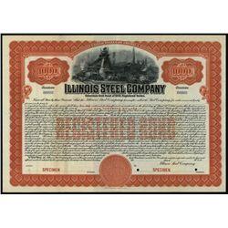 Illinois Steel Co., Specimen Bond.