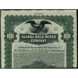 Alaska Gold Mines Co., Issued Bond.