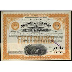 Alaska United Gold Mining Co., Issued Stock.