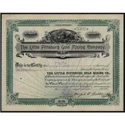 Little Pittsburg Gold Mining Co., Issued Stock.