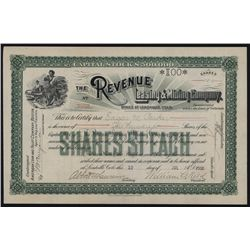 Revenue Leasing & Mining Co., Issued Stock.