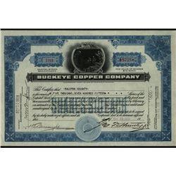 Buckeye Copper Co., Issued Stock.