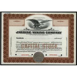 Jardine Mining Co., Specimen Stock.