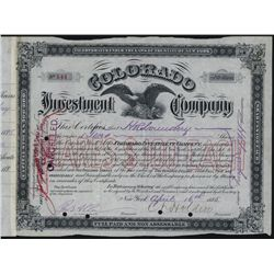 Colorado Investment Co., Issued Stock.