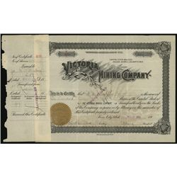 Victoria Mining Co., Issued Stock.