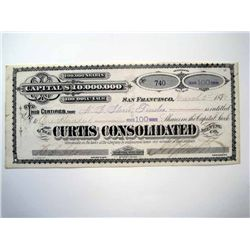 Curtis Consolidated Mining Co., Issued Stock.