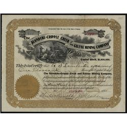 Klondike-Cripple Creek and Galena Mining Co., Issued Stock.