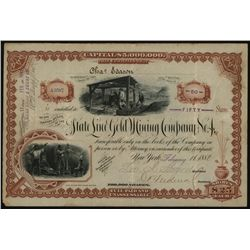 State Line Gold Mining Co. No.4. Issued Stock.