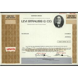 Levi Strauss & Co., Specimen Stock.