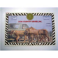 Lion Country Safari, Inc., Specimen Stock.