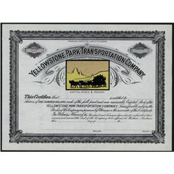 Yellowstone Park Transportation Co., Unissued Stock.
