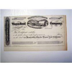 Weaverville & Shasta Wagon Road Co., Unissued Stock.