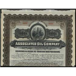 Associated Oil Co. of California, Specimen Bond.