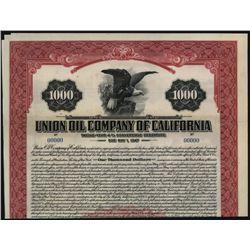Union Oil Co. of California, Specimen Bond.