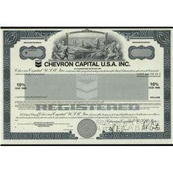 Chevron Capital U.S.A. Inc., Specimen Bond.