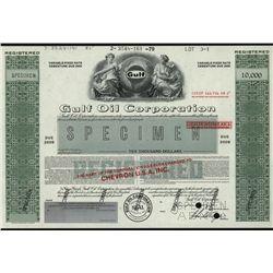 Gulf Oil Corp., Specimen Stock.