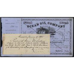 Ocean Oil Co., Issued Stock.