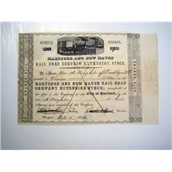 Hartford and New Haven Rail Road Co. Extension Stock, Issued Stock.