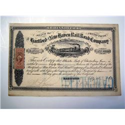 Hartford and New Haven Rail Road Co., Issued Stock.