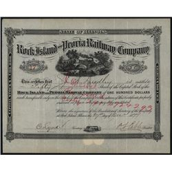 Rock Island and Peoria Railway Co., Issued Stock.