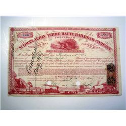 St. Louis, Alton and Terre Haute Railroad Co., Issued Stock.