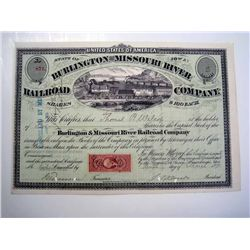 Burlington and Missouri River Railroad Co., Issued Stock.