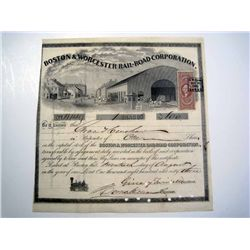 Boston & Worcester Rail-Road Corp., Issued Stock.