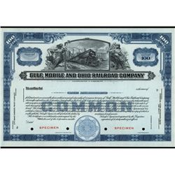 Gulf, Mobile and Ohio Railroad Co., Specimen Stock.