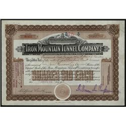 Iron Mountain Tunnel Co., Issued Stock.