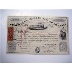 Columbus & Xenia Rail Road Co., Issued Stock.