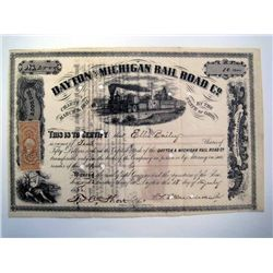 Dayton and Michigan Rail Road Co., Issued Stock.